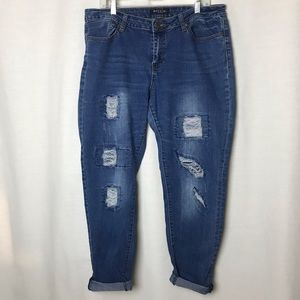 Baccini Distressed Skinny Jeans Womens Size 14